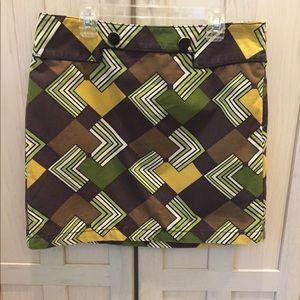 Ann Taylor Loft Petites 6P geometric skirt cotton
